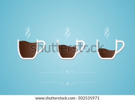 Cup of coffee with heart. Photo-realistic vector. - stock vector
