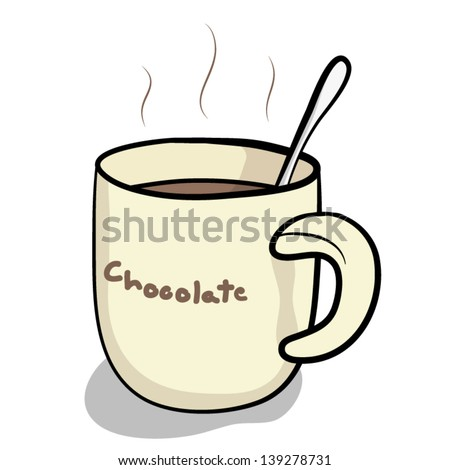 cup hot chocolate spoon cartoon vector stock vector royalty free rh shutterstock com hot chocolate cart hire hot chocolate cartoon