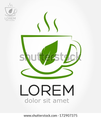 cup of tea symbol - stock vector