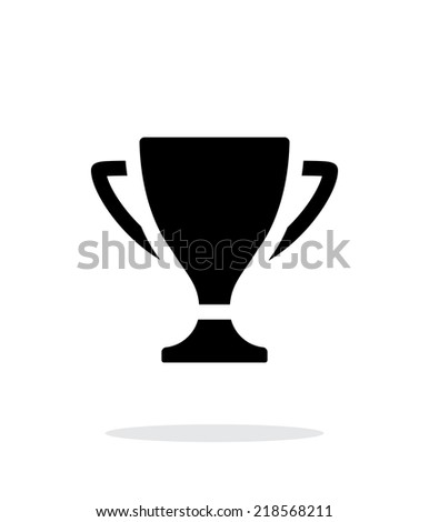 Cup simple icon on white background. Vector illustration. - stock vector