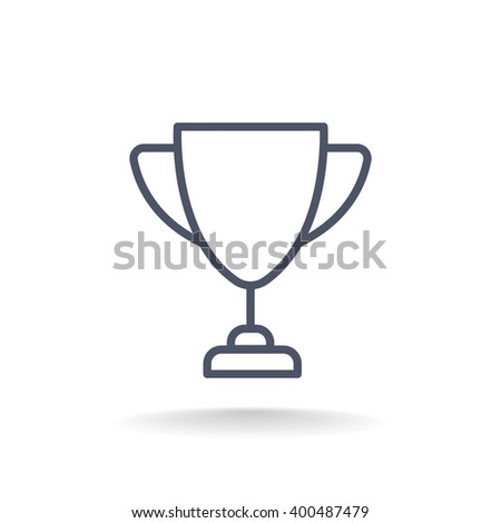 Cup, trophy, award, prize, champion icon - stock vector