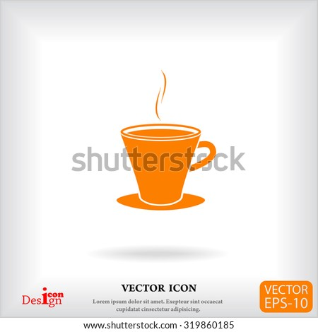 cup vector icon - stock vector