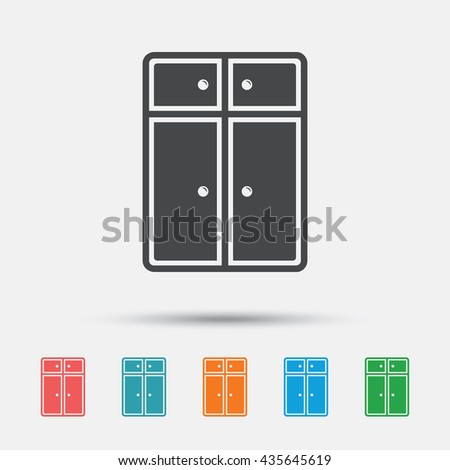 Modern Furniture Icon locker icon set spot icons modern stock vector 543154927