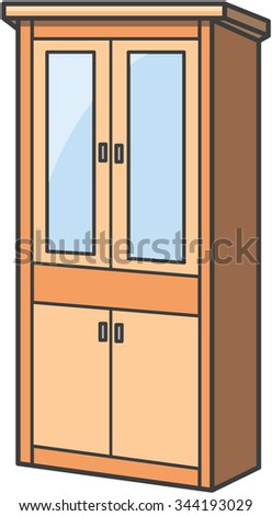 Cupboard stock photos royalty free images vectors for Cartoon kitchen cabinets