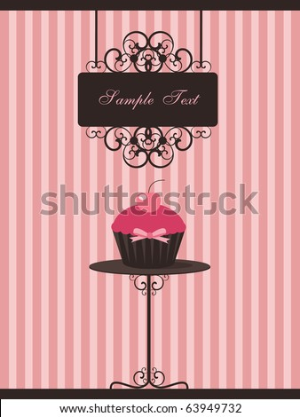 cupcake design - stock vector