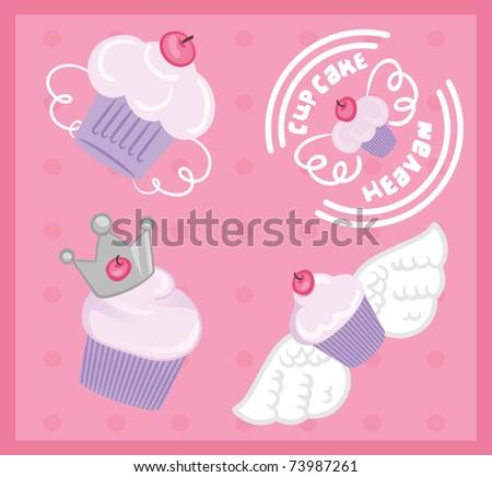 Cupcake heavan - stock vector
