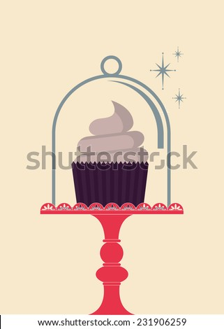 cupcake vector/illustration - stock vector