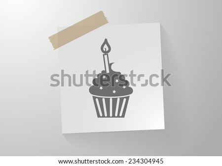 cupcake, web icon. vector design