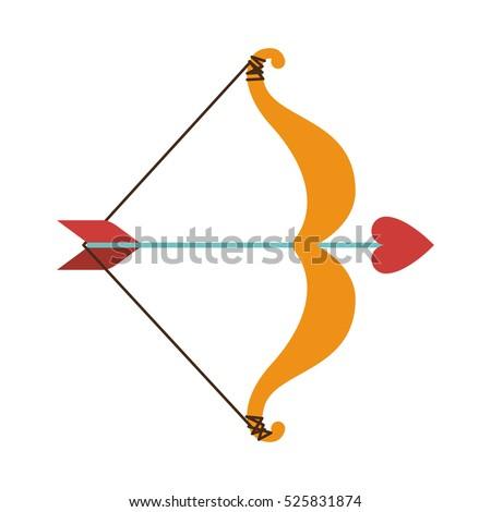 cupid bow icon arrow heart stock vector 2018 525831874 shutterstock rh shutterstock com Black Cupid's Arrow Cupid's Arrow Drawing