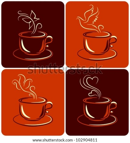 cups of coffee or tea