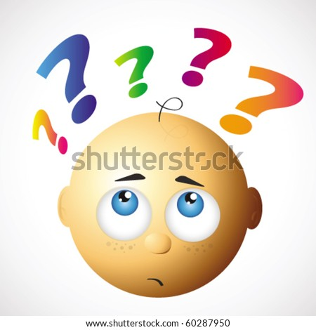 curious baby - stock vector