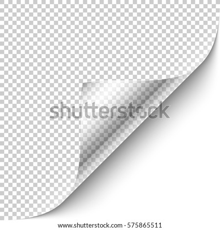 Curled Corner Design Element Transparent Background Stock