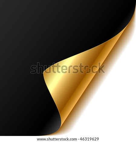 Curled corner. Easy editable Vector. - stock vector