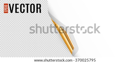 Curled Corner with  Transparent Background - stock vector
