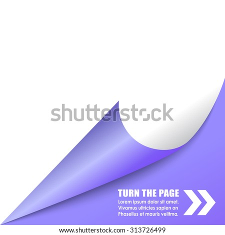 Curled page corner - stock vector