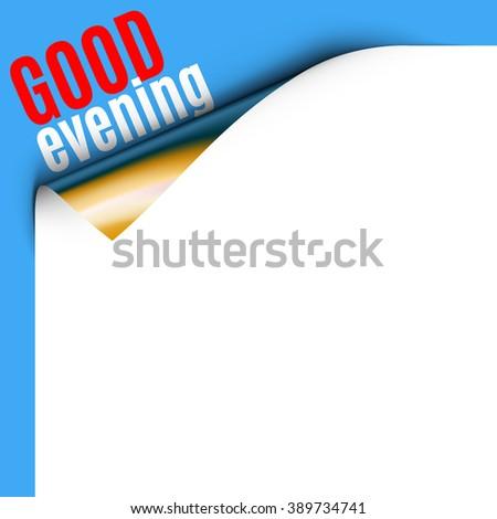 Curled White Paper Corner  - stock vector
