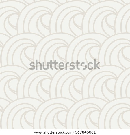 Curls and ringlets. Seamless vector pattern. Light abstract background of repeated curves. Wallpapers like waves or cumulus clouds. - stock vector