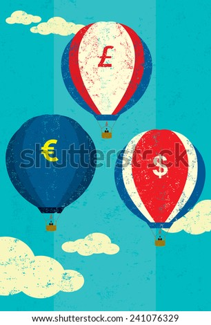 Currency Fluctuations - stock vector