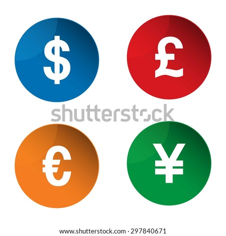 Currency Icon Currency Exchange Symbol Dollar Stock Photo Photo