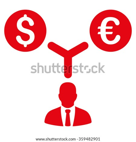 Currency Management Icon - stock vector