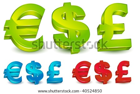 Currency Symbol Us Dollar Uk Pound Stock Vector 2018 40524850