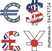 currency vector symbol - stock photo