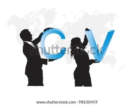 Curriculum vitae ,business people. - stock vector