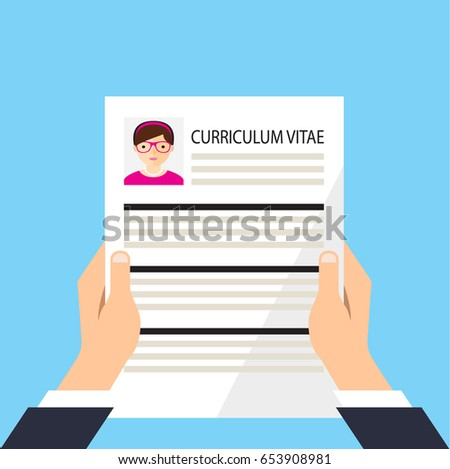 resume resume girl curriculum vitae resumes stock vector 730541638