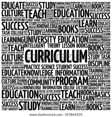 CURRICULUM word cloud, education business concept background - stock vector
