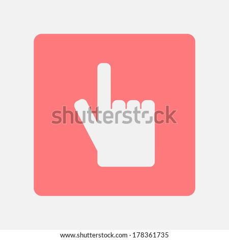 Cursor hand icon - stock vector