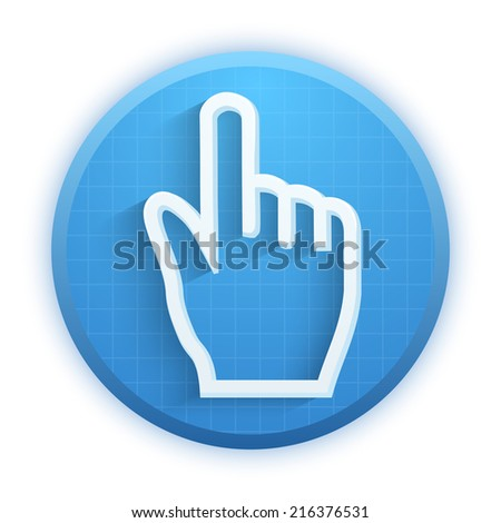 Cursor icon click mouse hand. Vector Illustration for Web and Mobile Application. Premium design. - stock vector