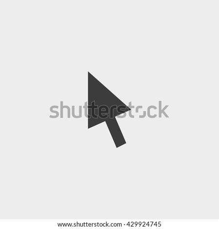 Cursor icon in a flat design in black color. Vector illustration eps10 - stock vector