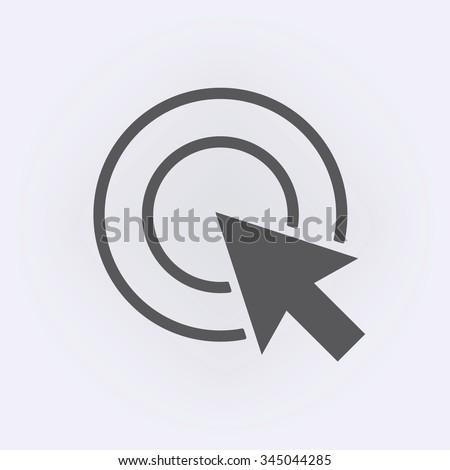 Cursor icon . Vector illustration - stock vector