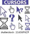 cursor icons set, vector - stock vector