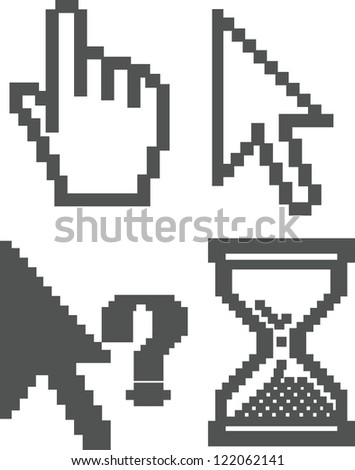 cursor icons set, vector - stock vector