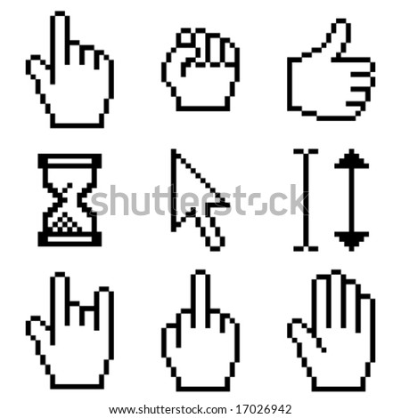 cursor set - stock vector