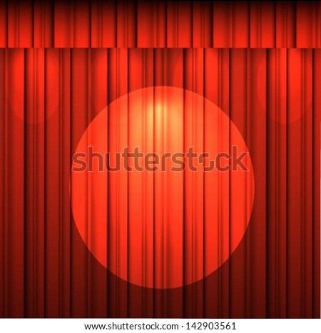 curtain - stock vector