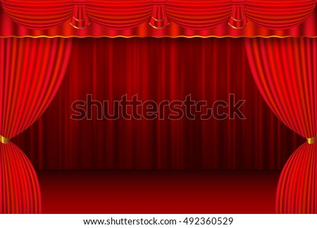 Curtain stage curtain background