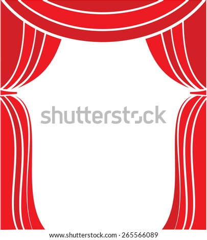 Curtain stage vector illustration - stock vector