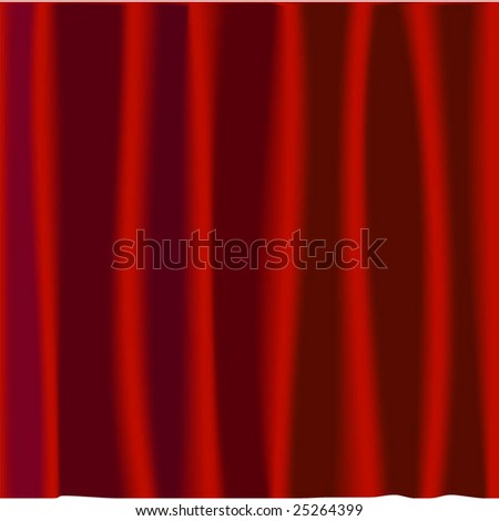 Curtains design in a vector format that is scalable - stock vector