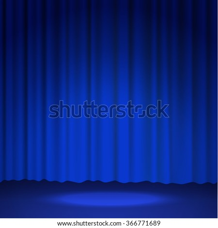 Curtains spotlight stage background. Vector eps10.