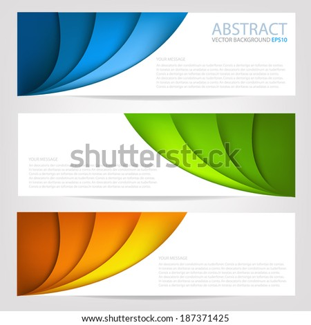Curve paper background multi colorful origami on white background overlap texture and pattern dimension vector illustration message board for text and message design modern website - stock vector