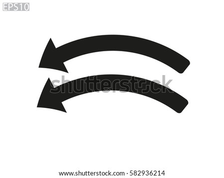 Curved Arrow Icon Vector Illustration Eps10 Stock 582936214