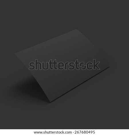 Curved black page. Business mockup template. Presentation of your branding and identity design. Vector Illustration EPS10. - stock vector