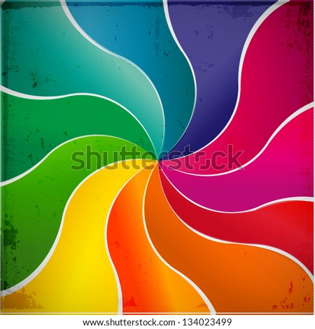 Curved  lines abstract vector background - stock vector