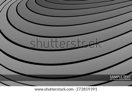 Curved metallic vector abstract background illustration - Abstract metal template for design vector illustrations - stock vector