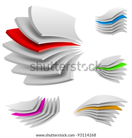 Curved Multi layers. Illustration of the designer on a white background - stock vector