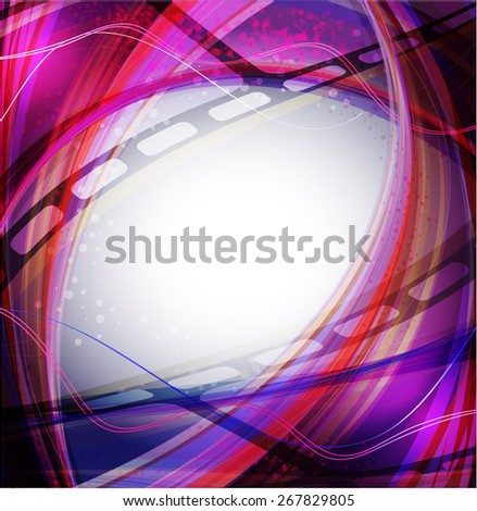 Curved photographic film. Vector illustration  - stock vector