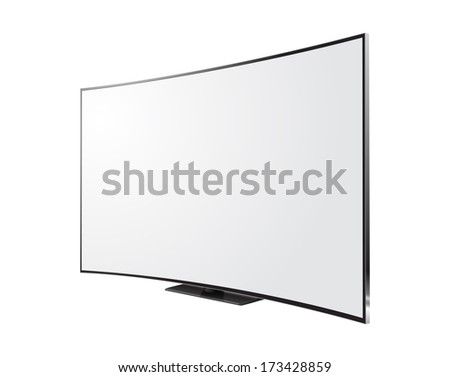 Curved screen - stock vector