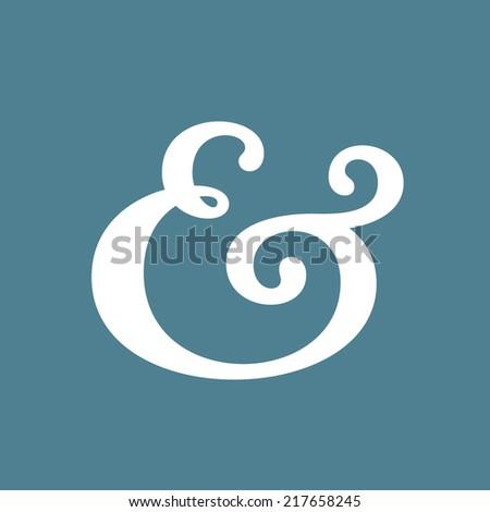 Custom ampersand symbol. Vector illustration - stock vector